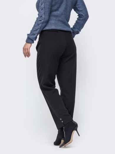 Зауженные брюки большого размера чёрные 50912, фото 2