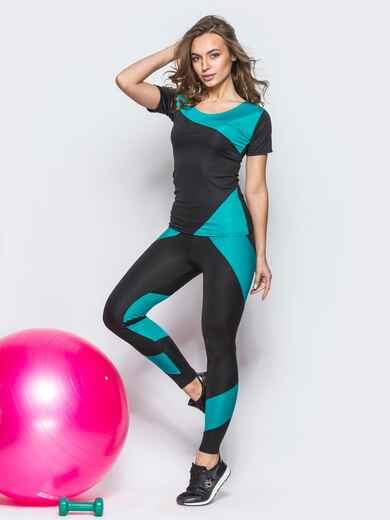 Комплект для фитнеса с контрастными вставками - 12805, фото 1 – интернет-магазин Dressa