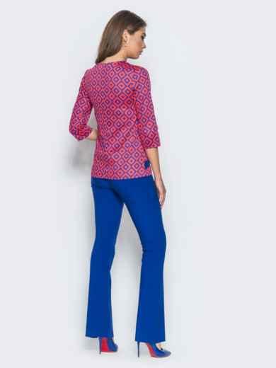 Оранжево-синий комплект с расклешенными брюками - 14473, фото 2 – интернет-магазин Dressa