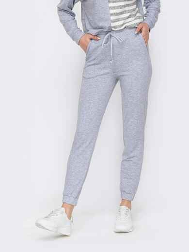 Спортивные штаны со стандартной посадкой серые 52663, фото 1