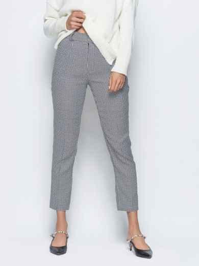 Укороченные брюки серого цвета с карманами - 16260, фото 2 – интернет-магазин Dressa