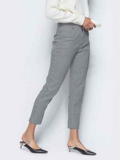 Укороченные брюки серого цвета с карманами - 16260, фото 3 – интернет-магазин Dressa