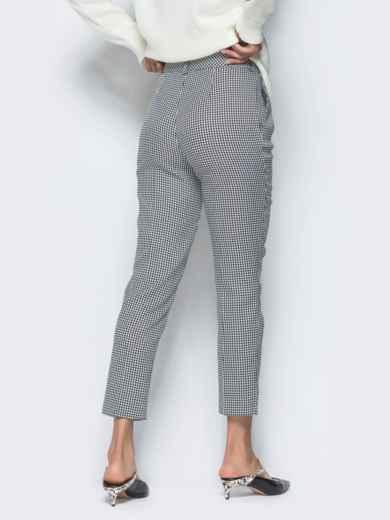 Укороченные брюки серого цвета с карманами - 16260, фото 4 – интернет-магазин Dressa