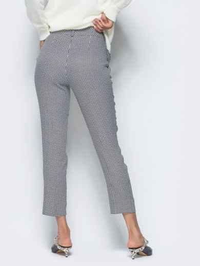 Укороченные брюки серого цвета с карманами - 16260, фото 5 – интернет-магазин Dressa