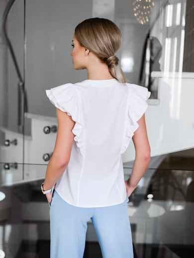 Легкая блузка с планкой и мягкой оборкой - 10239, фото 3 – интернет-магазин Dressa