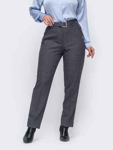 Прямые брюки большого размера серые 50914, фото 1