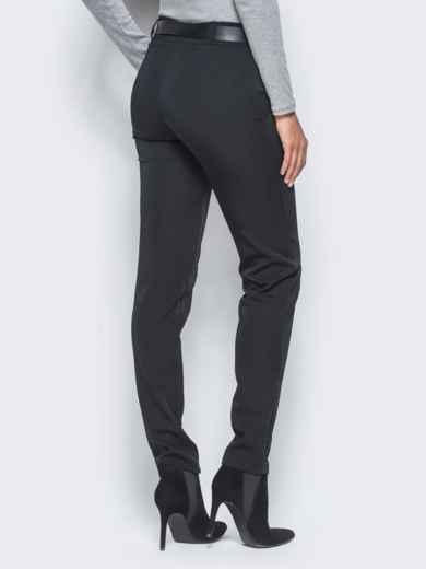 Черные брюки с отстроченными стрелками - 15722, фото 3 – интернет-магазин Dressa