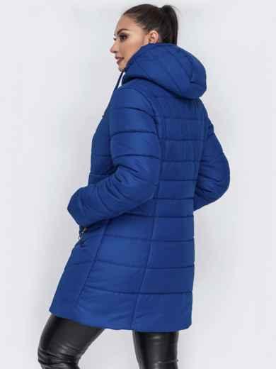Зимняя куртка приталенного кроя синяя - 44057, фото 2 – интернет-магазин Dressa