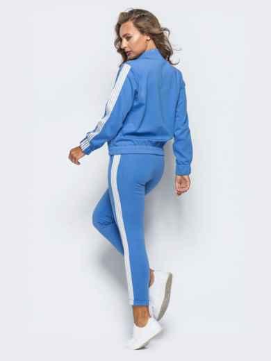 Голубой комплект с кофтой-бомбером - 16905, фото 2 – интернет-магазин Dressa