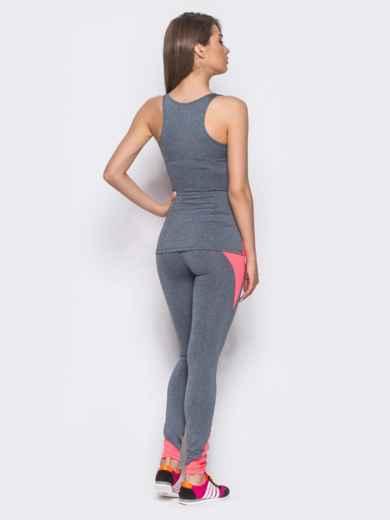 Комплект для фитнеса с розовыми вставками - 10494, фото 3 – интернет-магазин Dressa