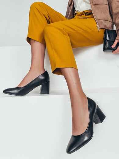 Туфли из искусственной кожи на каблуке 50583, фото 1
