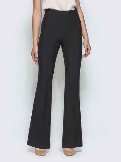 Чёрные брюки-клёш с завышенной талией 39969, фото 1