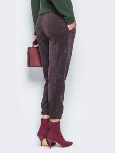 Укороченные брюки из вельвета - 17758, фото 2 – интернет-магазин Dressa