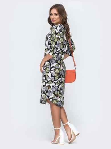 Платье с принтом и закругленным низом 45430, фото 3