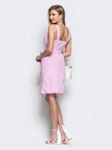 Розовый сарафан на широких бретелях с пуговицами - 21810, фото 3 – интернет-магазин Dressa