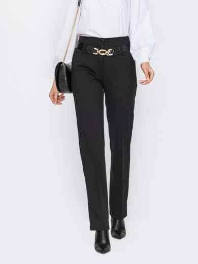 Черные брюки прямого кроя с завышенной талией 53318, фото 1