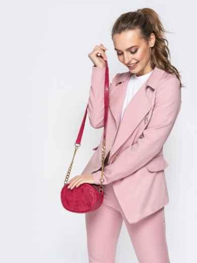 Поясная сумка с дополнительным ремешком красная - 20593, фото 2 – интернет-магазин Dressa
