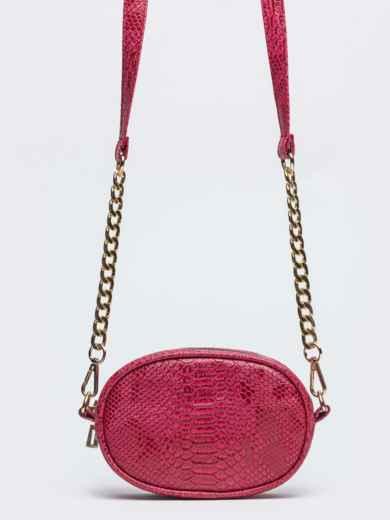 Поясная сумка с дополнительным ремешком красная - 20593, фото 3 – интернет-магазин Dressa