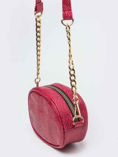 Поясная сумка с дополнительным ремешком красная - 20593, фото 4 – интернет-магазин Dressa