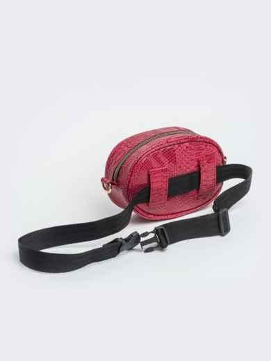 Поясная сумка с дополнительным ремешком красная - 20593, фото 5 – интернет-магазин Dressa