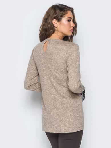Кофта с имитацией пиджака и топа из фатина розовая - 17608, фото 2 – интернет-магазин Dressa