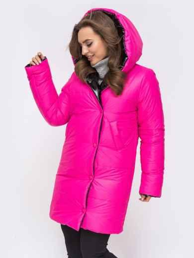 Двухсторонняя куртка из лакированной плащевски чёрная - 43181, фото 3 – интернет-магазин Dressa