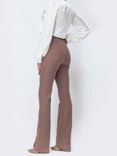 Бежевые брюки-клёш с высокой посадкой - 44075, фото 2 – интернет-магазин Dressa