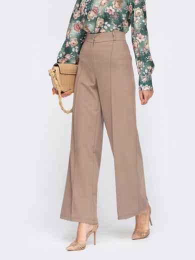 Классические бежевые брюки со стрелками 54640, фото 1