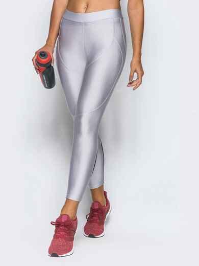 Лосины белого цвета с вставками из сетки - 17180, фото 1 – интернет-магазин Dressa