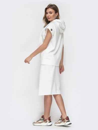Комплект и кофты с капюшоном и юбки белый 45794, фото 2