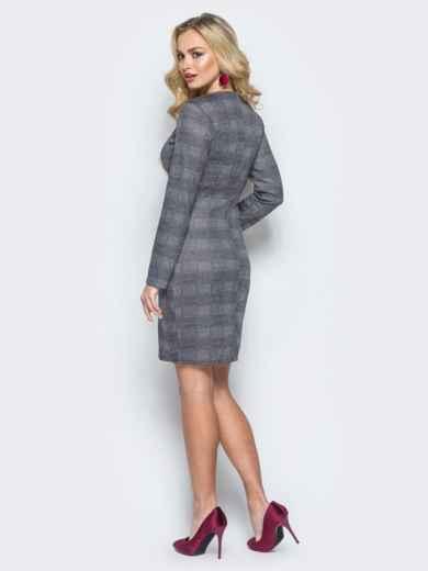 Платье-пиджак в клетку с молнией по спинке - 17782, фото 2 – интернет-магазин Dressa