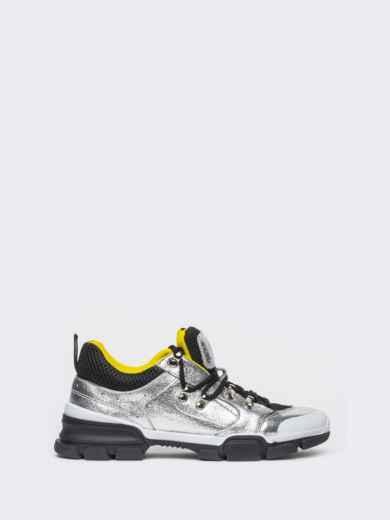 Серебристые кроссовки с контрастной сеткой - 21432, фото 4 – интернет-магазин Dressa