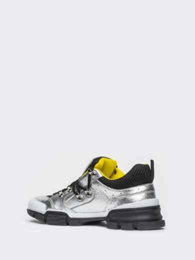 Серебристые кроссовки с контрастной сеткой - 21432, фото 5 – интернет-магазин Dressa