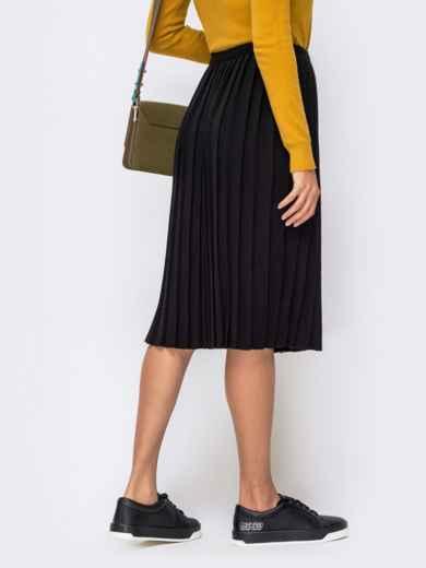Вязаная юбка-плиссе чёрного цвета 41188, фото 3