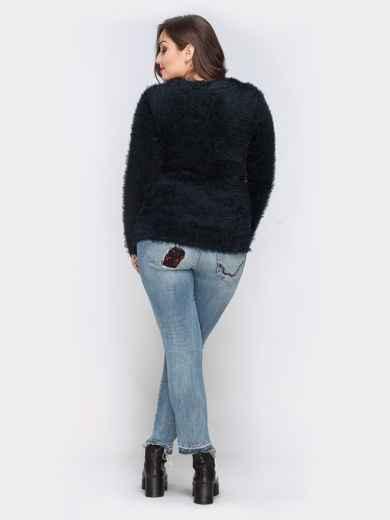 "Кофта черного цвета из трикотажа ""травка"" - 19141, фото 3 – интернет-магазин Dressa"