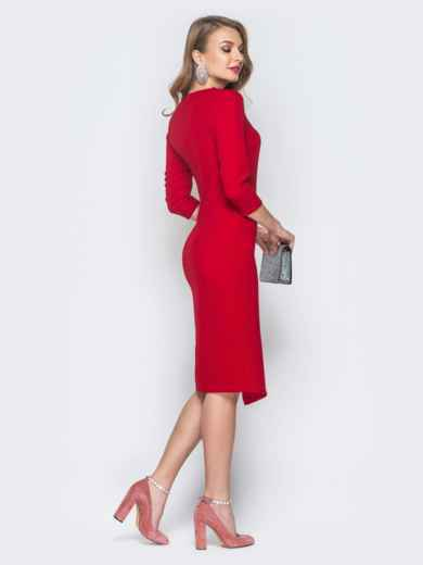 4f781e9411769a7 Платье красного цвета со вставками из кружева - 18668, фото 3 –  интернет-магазин