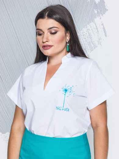 """Блузка с v-образным вырезом и принтом """"одуванчик"""" - 14139, фото 3 – интернет-магазин Dressa"""