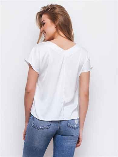 Укороченная блузка с цветочным принтом 13432, фото 2