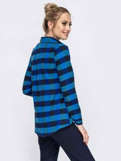 Синяя рубашка в полоску 45607, фото 2