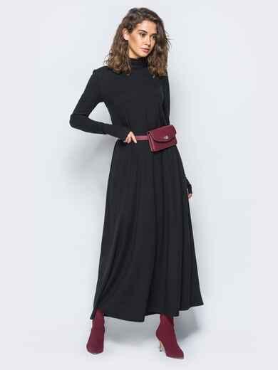 Платье с рукавами-митенками и объёмным воротником - 17459, фото 1 – интернет-магазин Dressa
