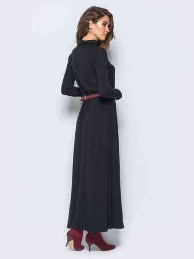 Платье с рукавами-митенками и объёмным воротником - 17459, фото 2 – интернет-магазин Dressa