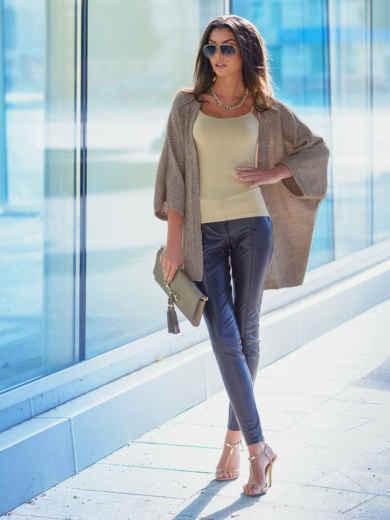 Светло-серый кардиган с укороченными рукавами - 13137, фото 3 – интернет-магазин Dressa