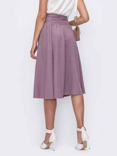 Фиолетовая юбка полусолнце с широким поясом 49604, фото 3