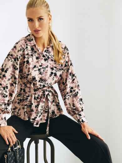Легкая принтованная блузка из штапеля 54643, фото 1