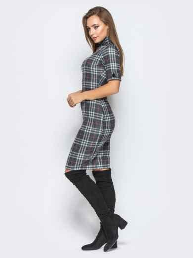 Облегающее платье в клетку с воротником - 18250, фото 2 – интернет-магазин Dressa