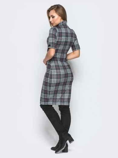 Облегающее платье в клетку с воротником - 18250, фото 3 – интернет-магазин Dressa