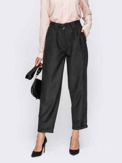 Графитовые брюки с поясом 54668, фото 1