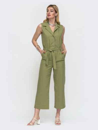 Комбинезон с укороченными брюками цвета хаки 48456, фото 2