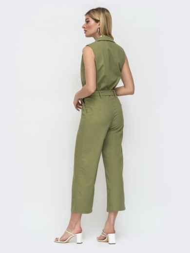 Комбинезон с укороченными брюками цвета хаки 48456, фото 3