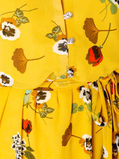 Шифоновое платье желтого цвета с принтом 49016, фото 4
